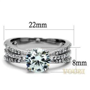 ultrachicfashion.com Jewelry - Stainless Steel CZ Ring